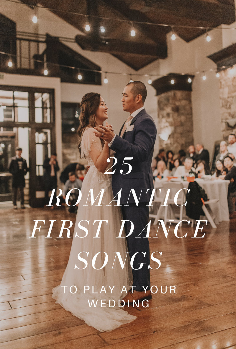 Couple perform their first dance at wedding reception